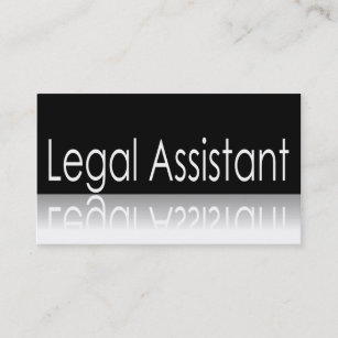Legal assistant business cards business card printing zazzle uk reflective text legal assistant business card reheart Choice Image