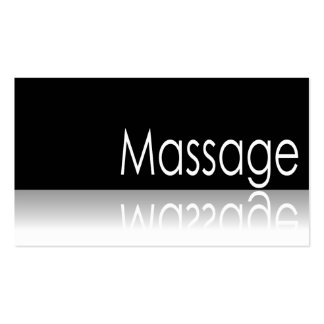 Reflective Text - Massage - Business Card