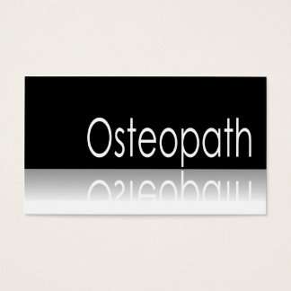 Reflective Text - Osteopath - Business Card