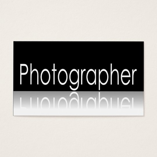 Reflective Text - Photographer - Business Card