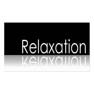 Reflective Text - Relaxation - Business Card
