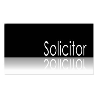 Reflective Text - Solicitor- Business Card