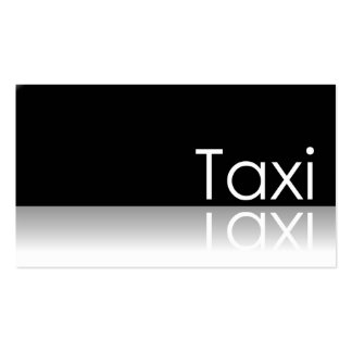 Reflective Text - Taxi - Business Card