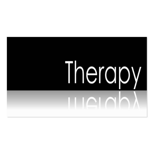 Reflective Text - Therapy - Business Card