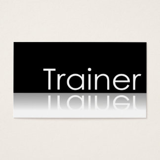 Reflective Text - Trainer - Business Card
