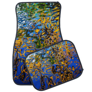 Reflective Water Ripples Nature Abstract Art Car Mat