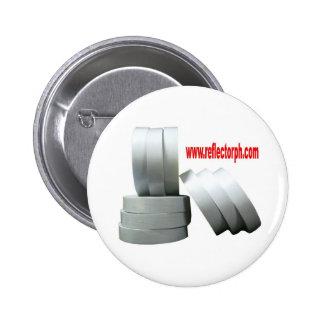 Reflector Reflective Gray Tape Reflectors Pinback Button