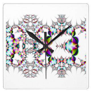 Reflex square clock