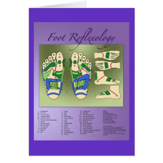 Reflexology chart greeting card
