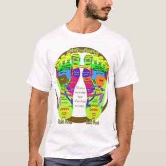 reflexology foot map (back) japan map T-Shirt