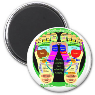 reflexology foot map magnet
