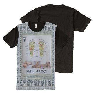 REFLEXOLOGY Health Exercise Naturopathy Gym Humans All-Over Print T-Shirt