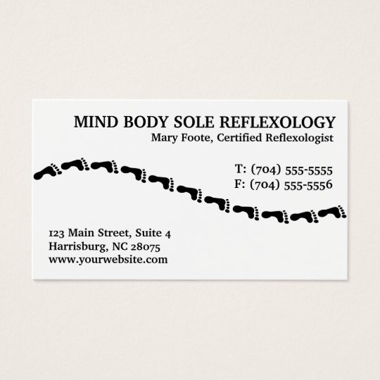 Reflexology Reflexologist Business Cards