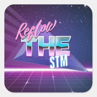 Reflow the STM sticker