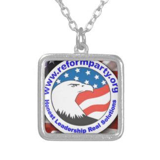 Reform Party Eagle 3 Square Pendant Necklace