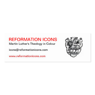 Reformation Icons Pack Of Skinny Business Cards