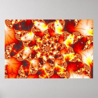 Refractive Heat - Fractal Poster