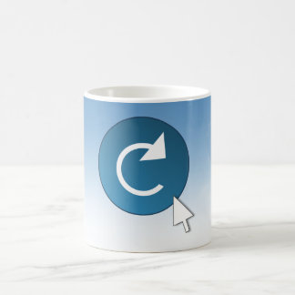 Refresh concept. coffee mug