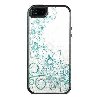 Refreshing Floral Blue Summer Island Design OtterBox iPhone 5/5s/SE Case