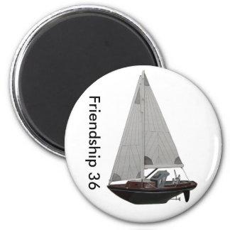 Refrigerant Iman Yacht Friendship 36 6 Cm Round Magnet
