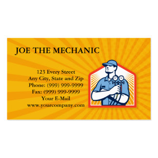 Refrigeration Air Conditioning Mechanic Front Business Card Template