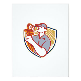 Refrigeration Air Conditioning Mechanic Shield Personalized Invitations