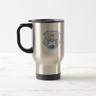 Refrigeration Air Conditioning Mechanic Shield Ret Travel Mug