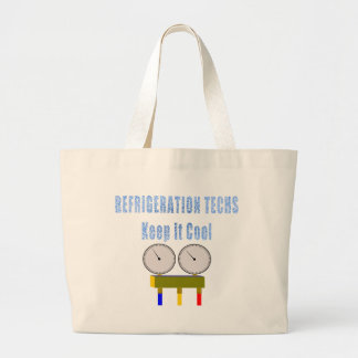 Refrigeration Techs Keep it Cool.png Jumbo Tote Bag
