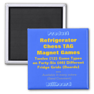REFRIGERATOR CHESS TAG MAGNET GAMES