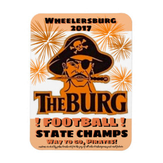 Refrigerator magnet for state football winners -