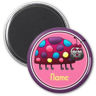 Refrigerator Magnet, Name Template, Cute Ladybug Magnet