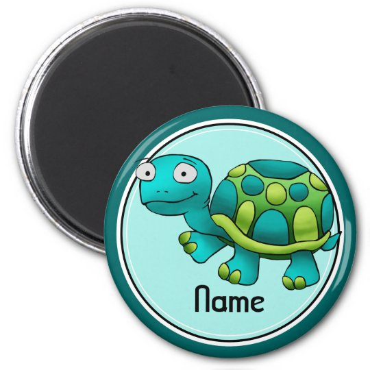 Refrigerator Magnet, Name Template, Cute Turtle 6 Cm