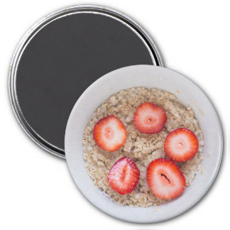 Refrigerator Magnet Strawberry Oatmeal