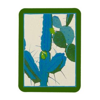 Refrigerator Retro Cactus Avacado Turquoise Magnet