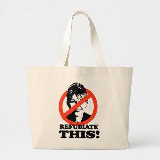 Refudiate This Jumbo Tote Bag