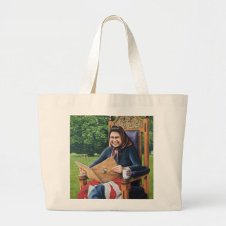 Refugee from England 1975 Large Tote Bag