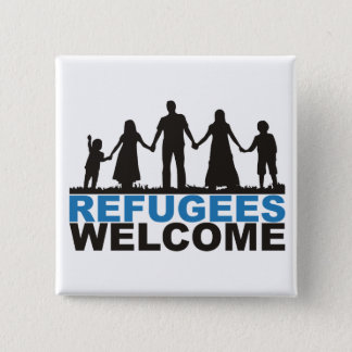 Refugees Welcome 15 Cm Square Badge