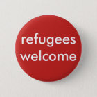 refugees welcome 6 cm round badge