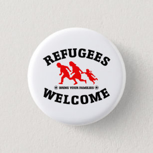 Refugees Welcome Bring Your Families 3 Cm Round Badge