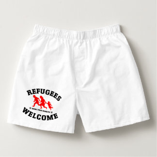 Refugees Welcome Bring Your Families Boxers