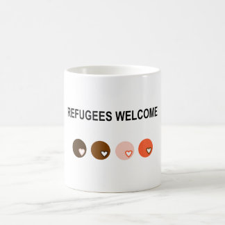 Refugees welcome coffee mug