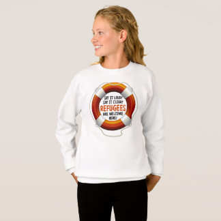 Refugees Welcome Girl's Sweatshirt