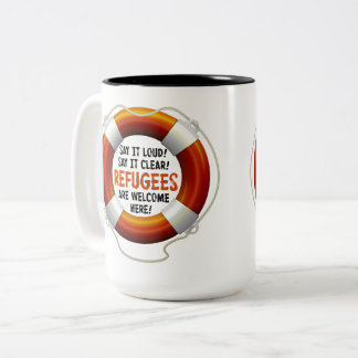 Refugees Welcome Large Mug