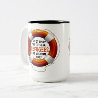 Refugees Welcome Large Mug