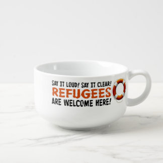 Refugees Welcome Soup Mug