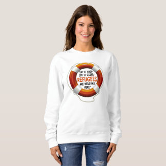 Refugees Welcome Women's Basic Sweatshirt