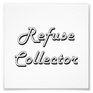 Refuse Collector Classic Job Design Photo Art