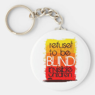 Refuse to be Blind Basic Round Button Key Ring