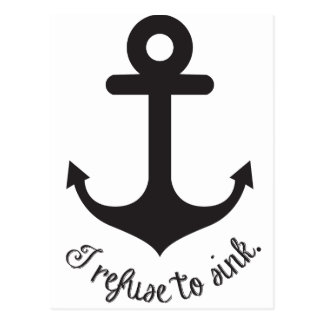 Refuse to sink postcard