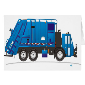 Refuse Truck Blue Card